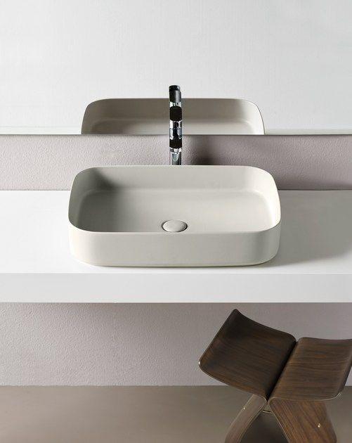 Countertop Rectangular Ceramic Washbasin