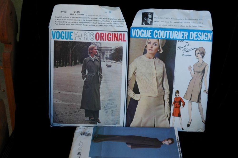 1960's 70's VTG VOGUE Couturier Paris Original Yves Saint Laurent Coat Pants
