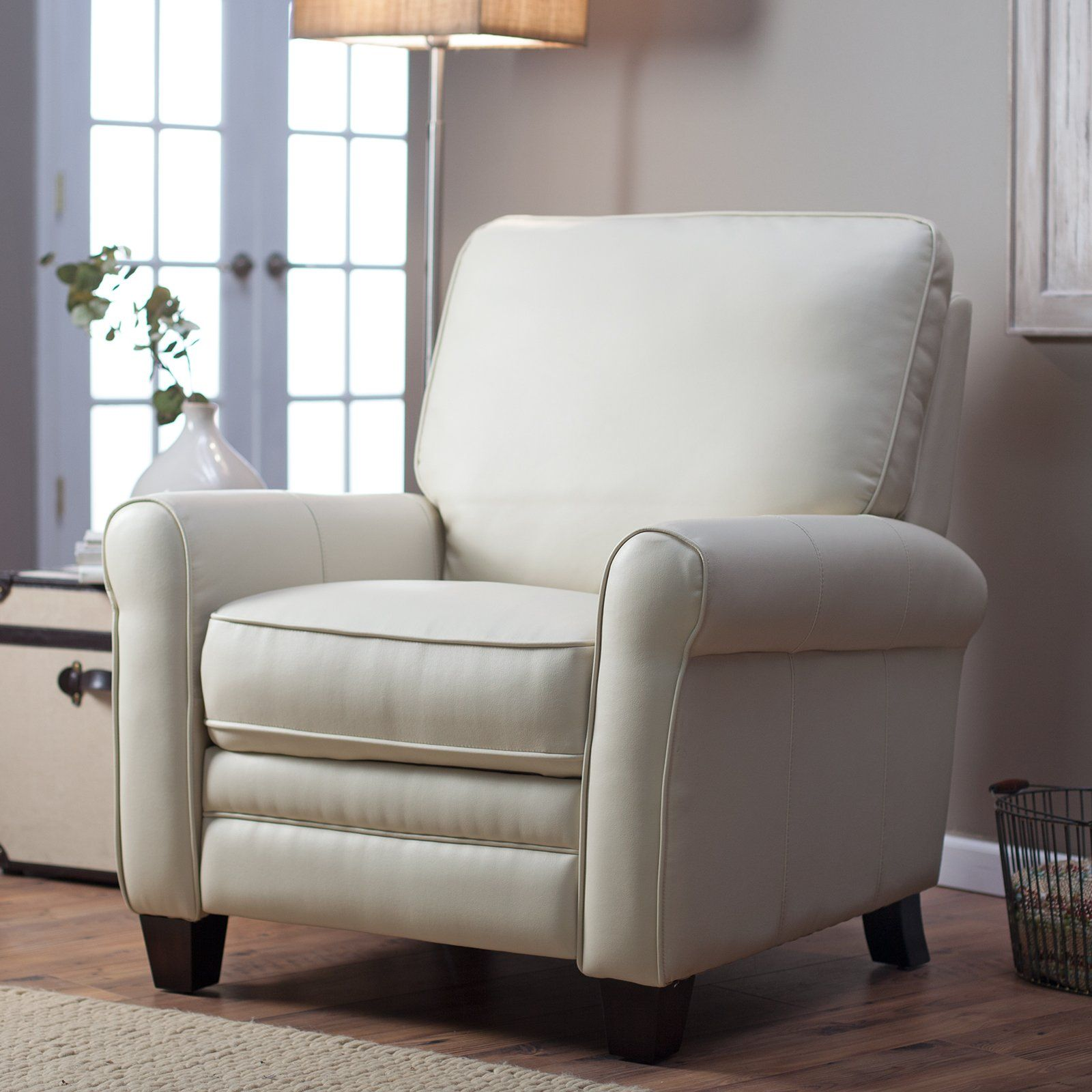 meridian ii leather recliner cream 449 hayneedle