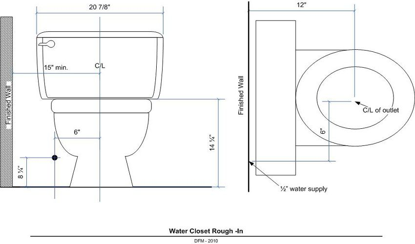 Basement bath rough in diagram
