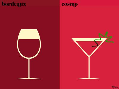 Bordeux vs. Cosmo // Paris versus New York