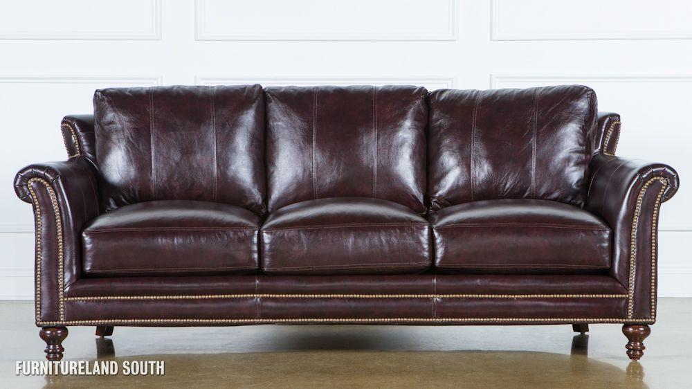 Bradington Young Richardson Stationary Leather Sofa Dimensions W 91 D 41 H 341 2
