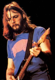 a2d0e7f52c2f2 Pink Floyd s David Gilmour wearing a Pig t-shirt. Because why not ...