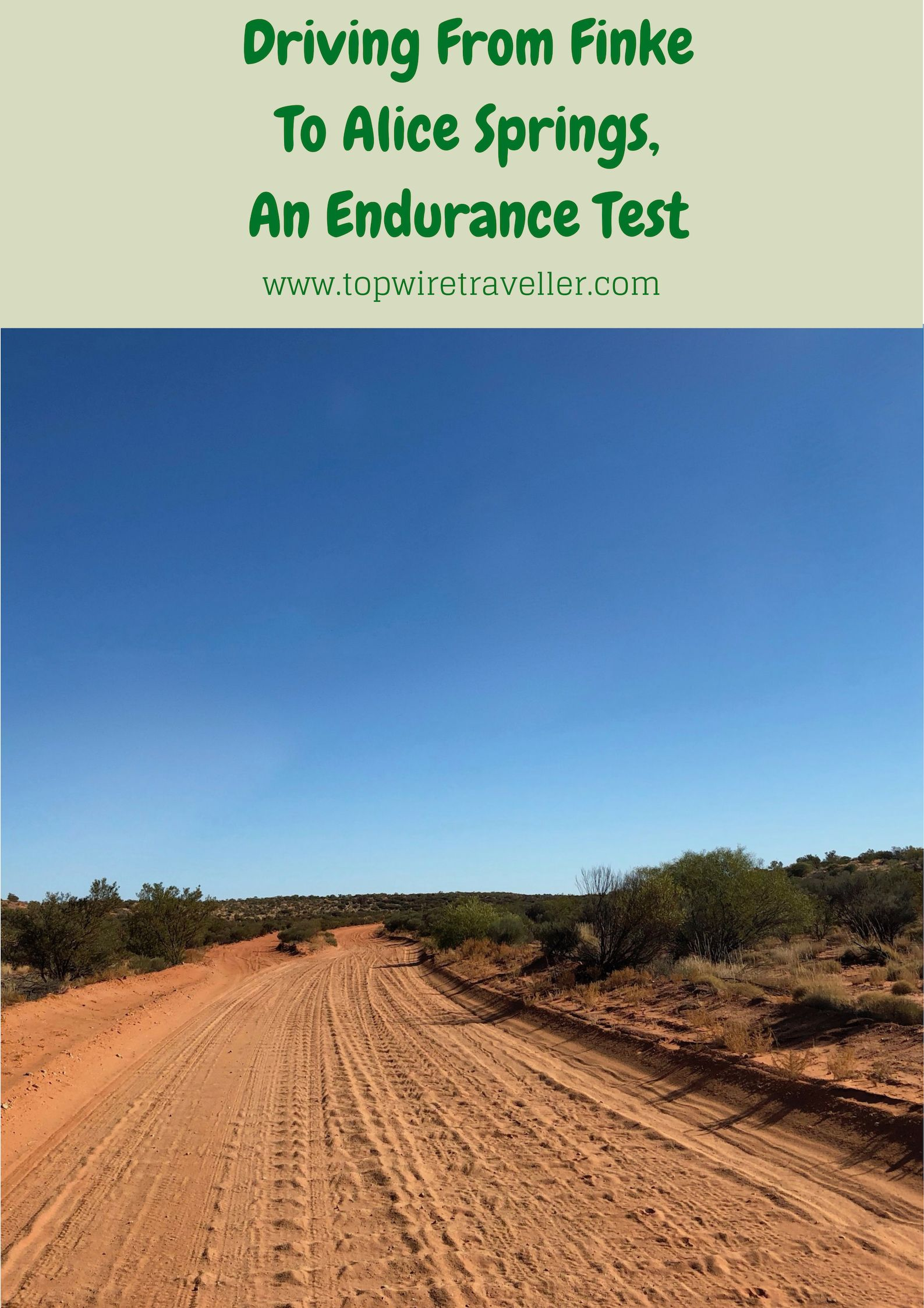 Driving From Finke To Alice Springs Alice springs
