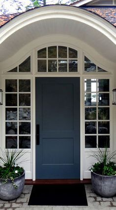 Lovely Front Door Color..really Pretty Blue/grey Color
