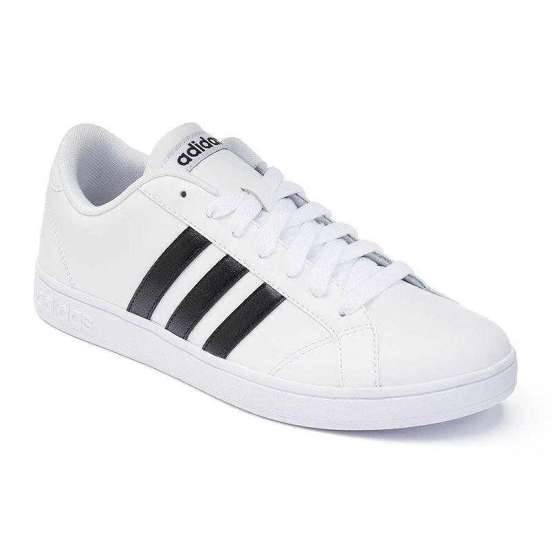 Adidas NEO Baseline Kid's Shoes, Size: 1, White | Adidas