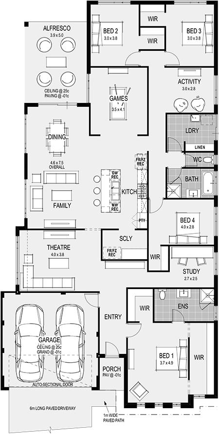 The Siena Floorplan Building Plans House Plans House Design