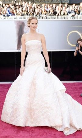 Jennifer Lawrence at the Oscars 2013