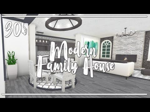 Welcome To Bloxburg Ii Modern One Story 30k Family House No