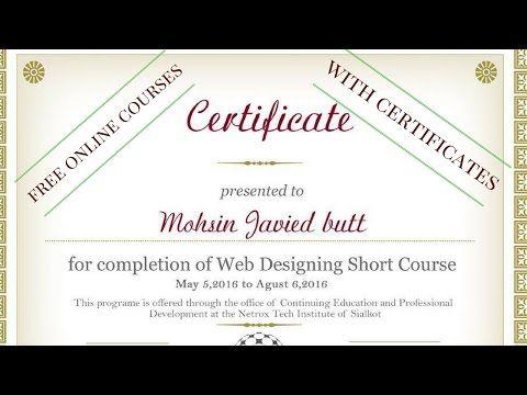 free online courses with certificates | Online School Programs ...