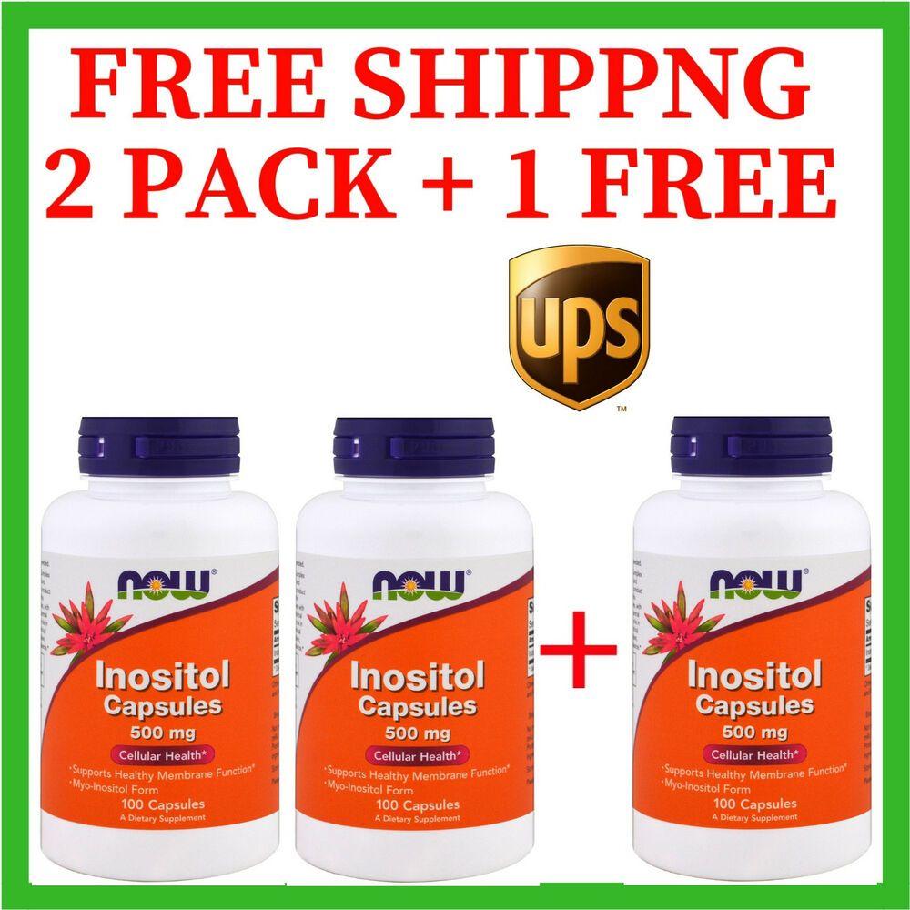 Details about 3 PACK NOW Foods Inositol Capsules 500 mg 100 Caps