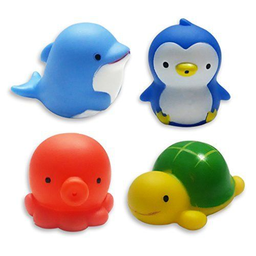 Clearance SaleMICHLEY Baby Bath Toys Sea Animal Water Squirter Toy Environmental Protection Material Bathtub Set Of 4 Check This Awesome Product By
