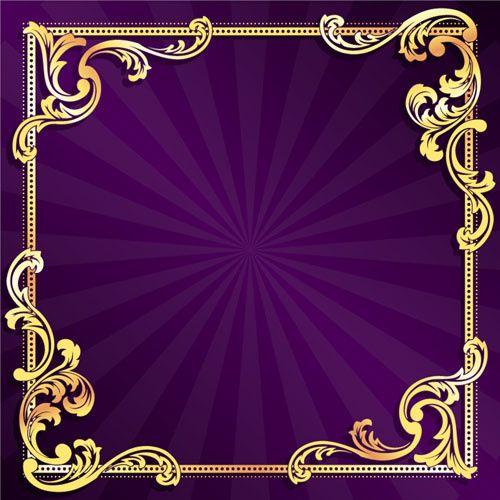 5e8f98af222 Golden frame with purple background vector Free vector in Open office  drawing svg ( .svg ) vector illustration graphic art design format format  for free ...
