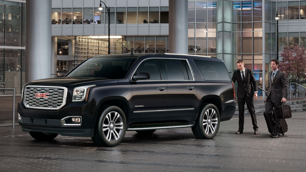 Exterior Image Of The 2018 Gmc Yukon Denali Full Size Luxury Suv Gmc Trucks Gmc Gmc Yukon