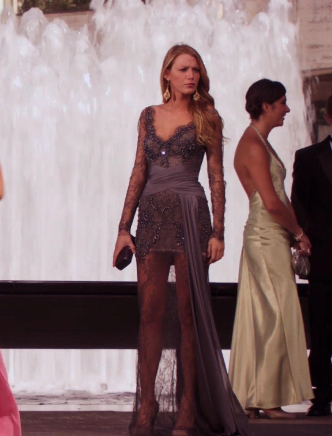 3513b1d4d846 Serena Van Der Woodsen Gossip Girl charcoal grey gown at New York City  Ballet