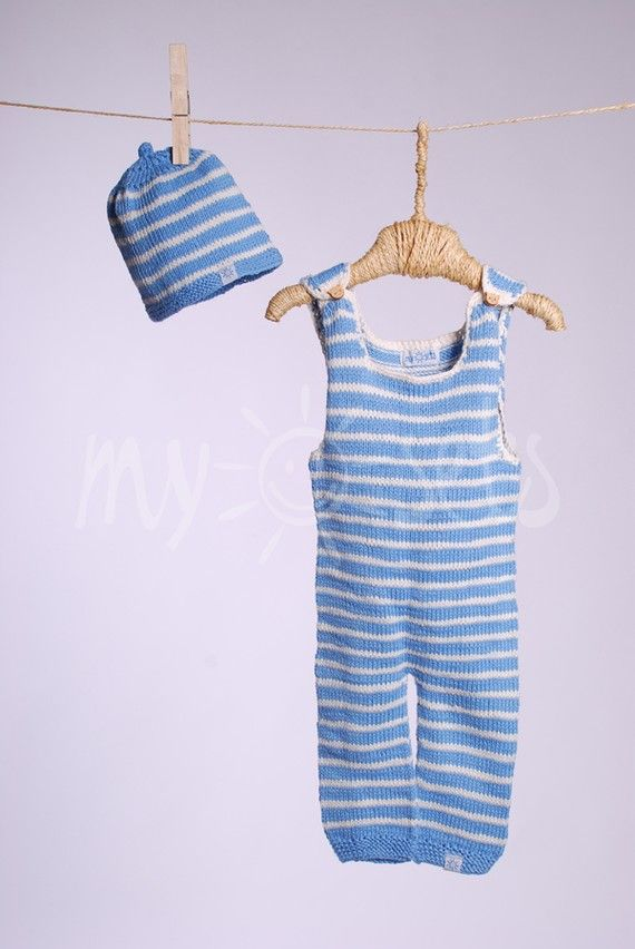 92302a7b61ee ORGANIC hand knitted baby boy set -- love the overalls