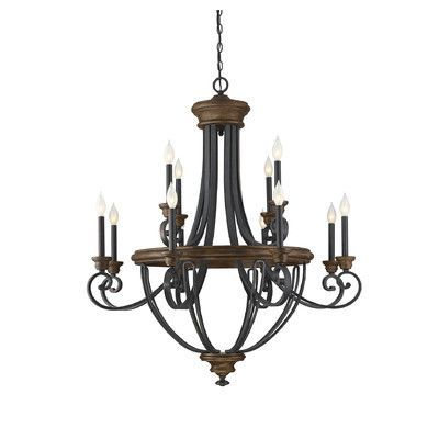 Savoy House Wickham 12 Light Candle Chandelier Chandelier Lighting Wood Chandelier Chandelier