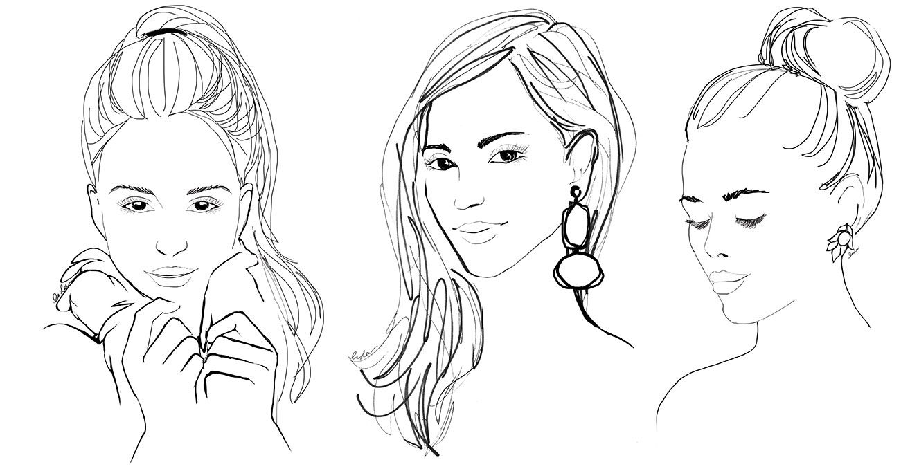 girls face coloring pages - photo#27