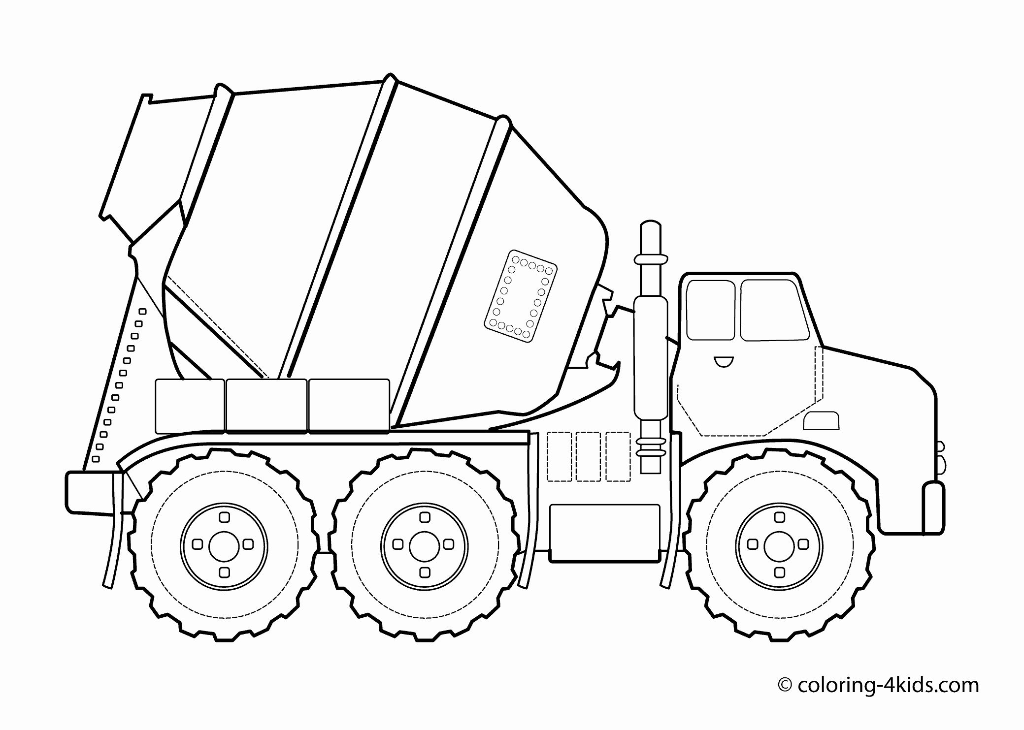 Road Transport Coloring Pages Elegant Concrete Truck