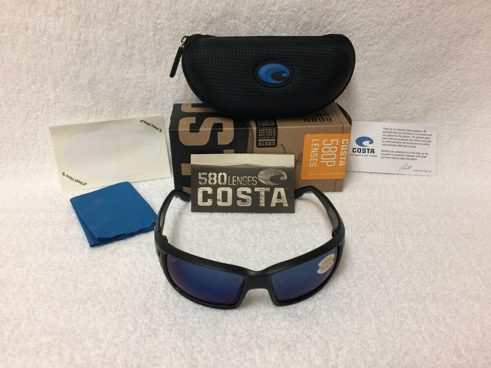 c6b1758903 NEW Costa Del Mar Permit Polarized Sunglasses Black Blue Mirror 580P PT 11  OBMP  affilink