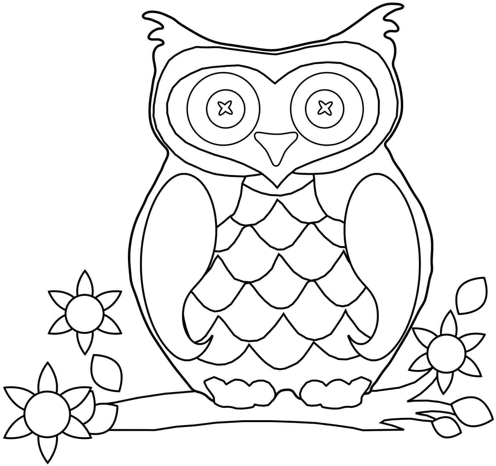 Print out coloring pages for girls - Animal Owl Coloring Sheets Printable For Preschool