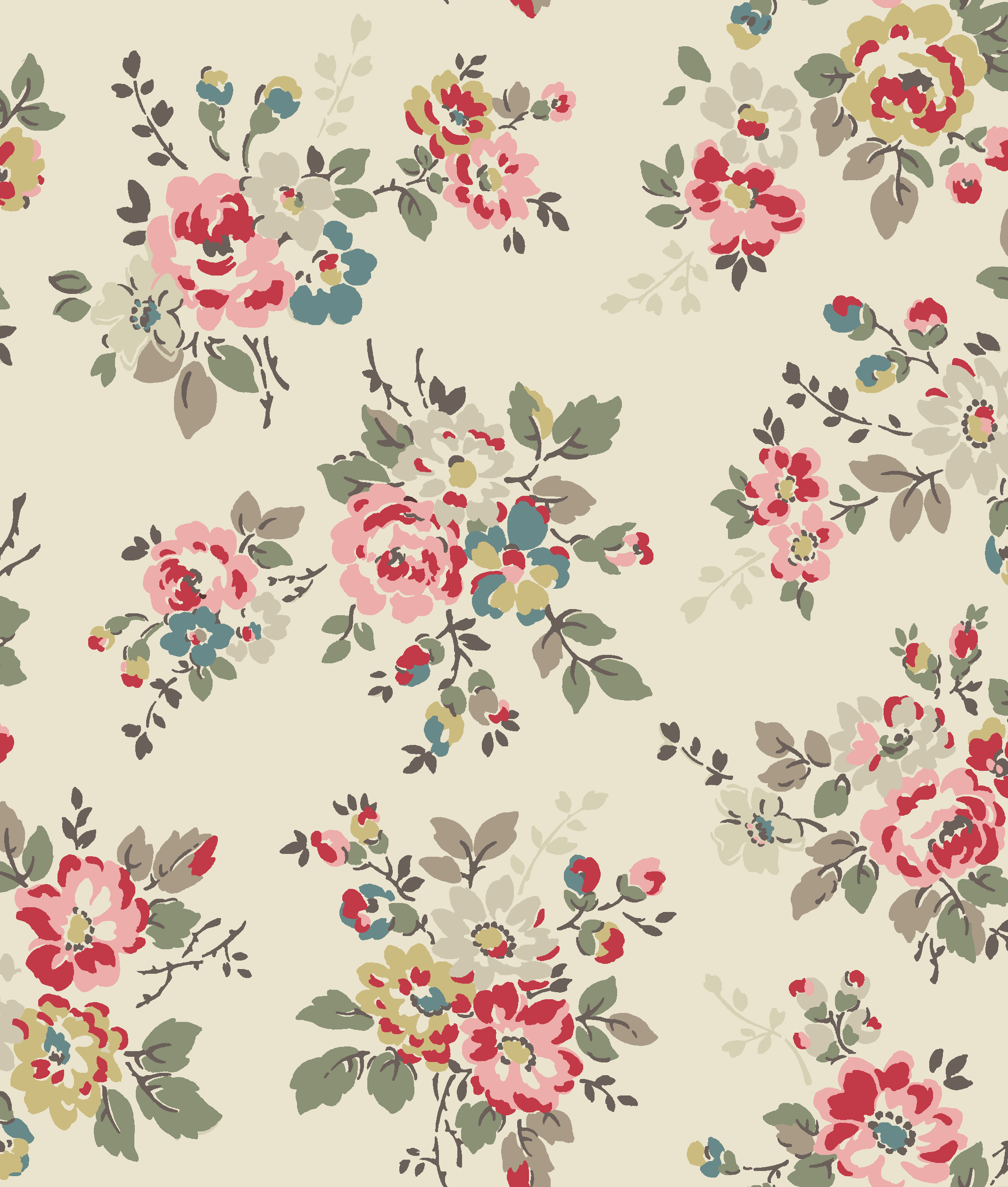 Kingswood rose a signature trailing floral print cath for Wallpaper prints patterns