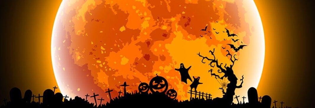 Halloween Fb Cover 2020 Halloween Moon Facebook Cover | Halloween facebook cover
