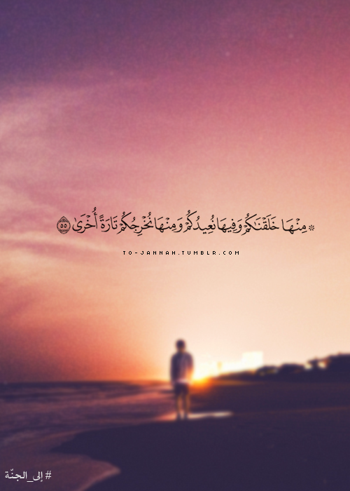 م ن ه ا خ ل ق ن اك م و ف يه ا ن ع يد ك م و م ن ه ا ن خ ر ج ك م ت ار ة أ خ ر ى Quran Quotes Quran Verses Quran Quotes Love