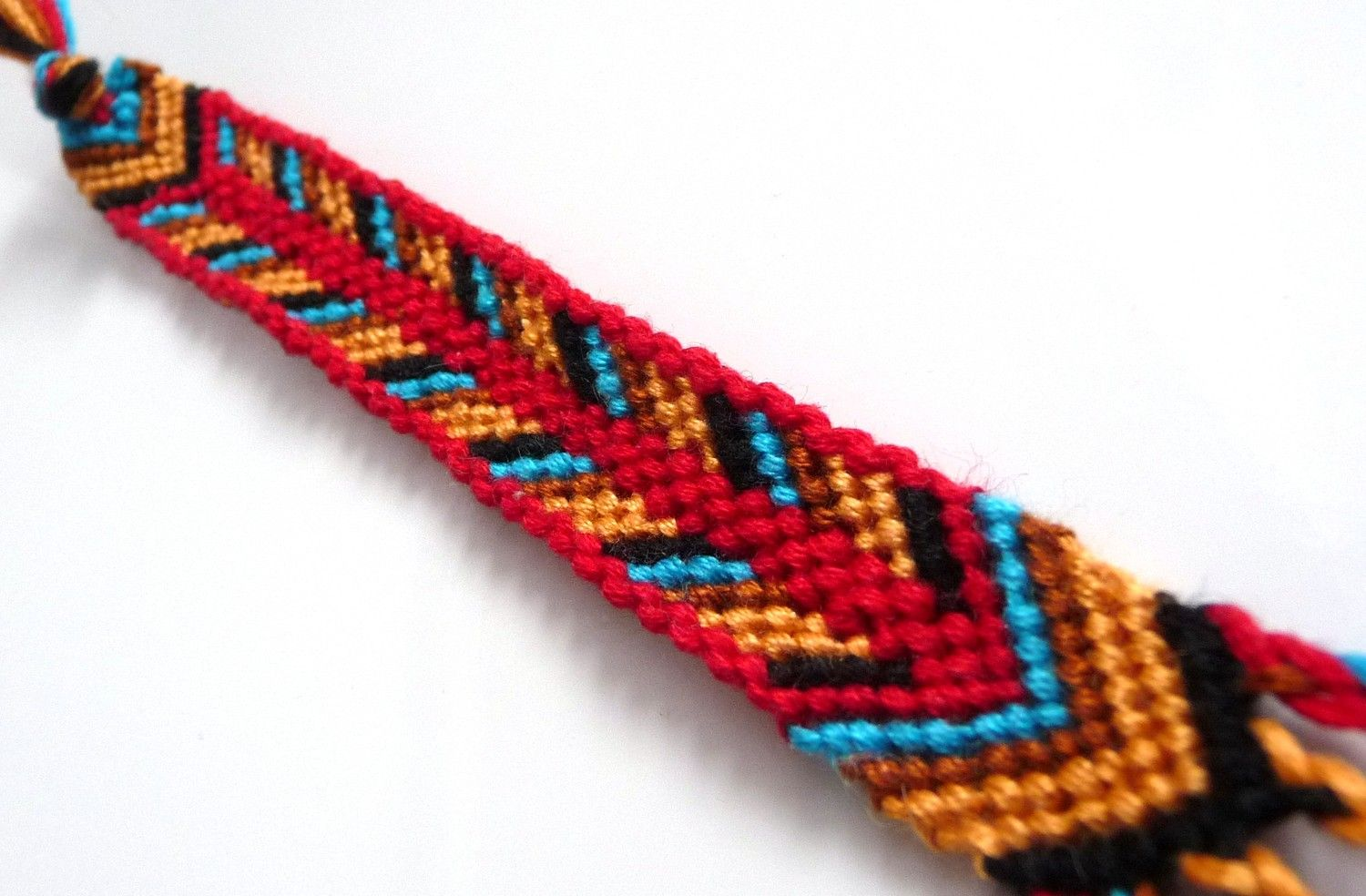red friendship picture thread lots knots embroidery easy kitchen a bracelet in tutorial the steps of