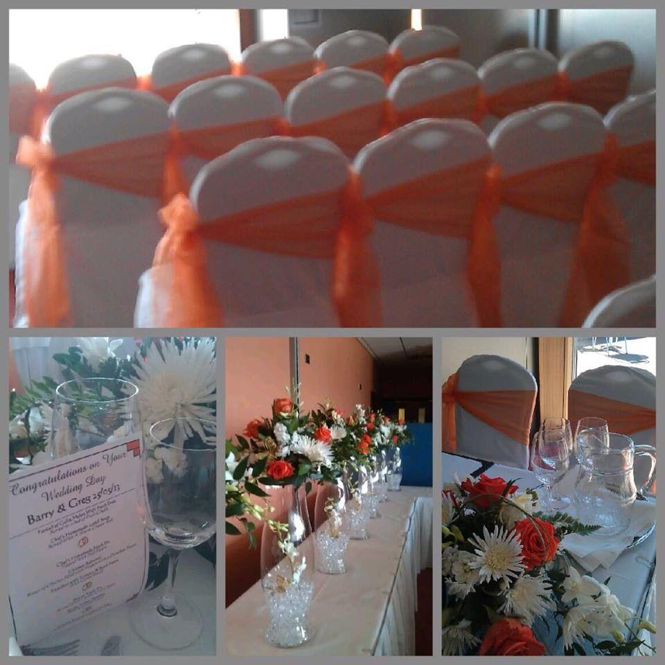 Orange wedding sashes