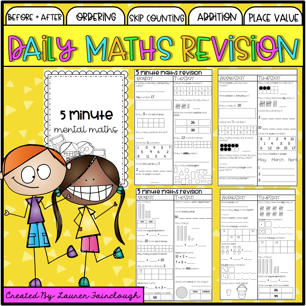 Year One Maths Revision Book 1