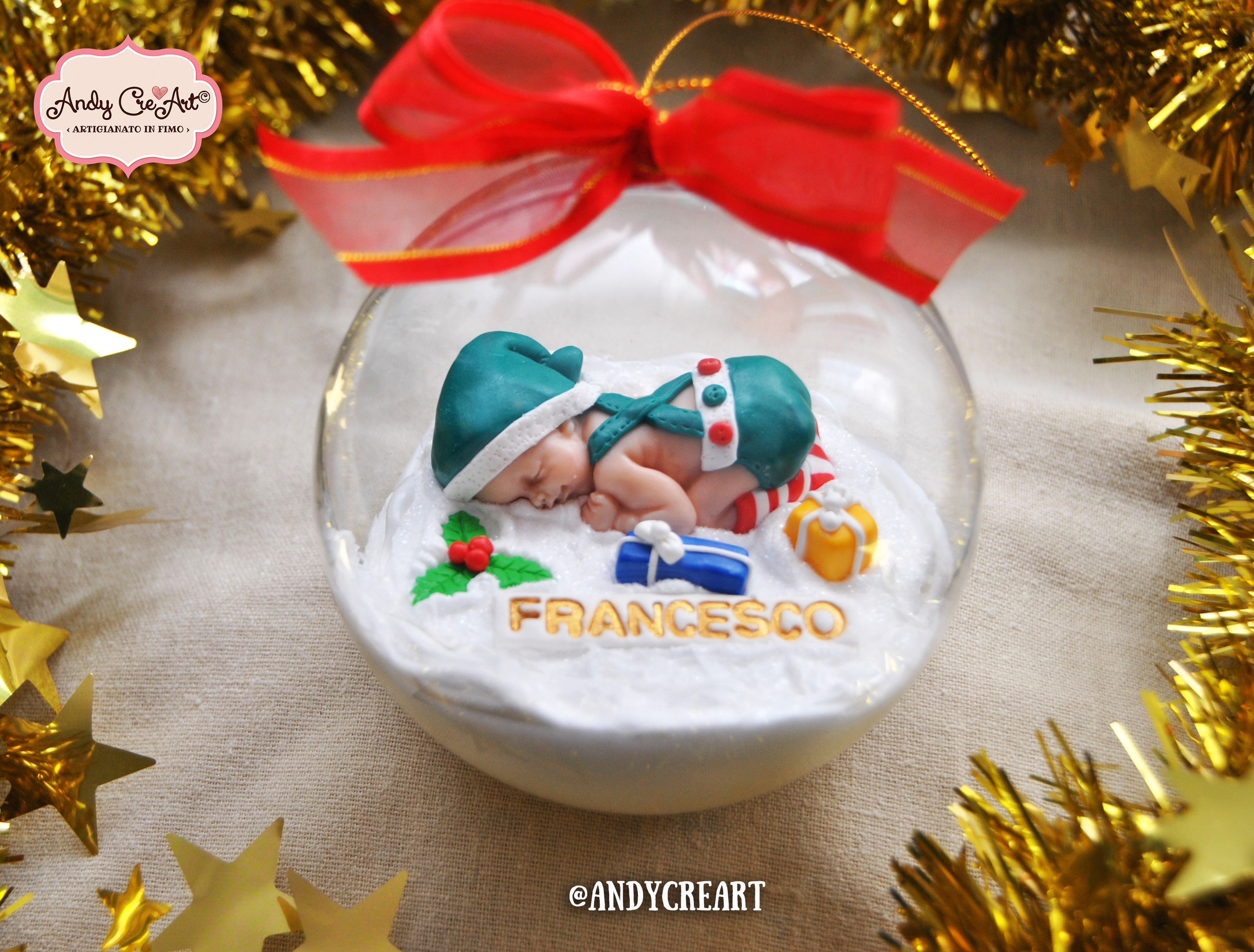Handmade Christmas Ball with Elf Birth gift male female Tree