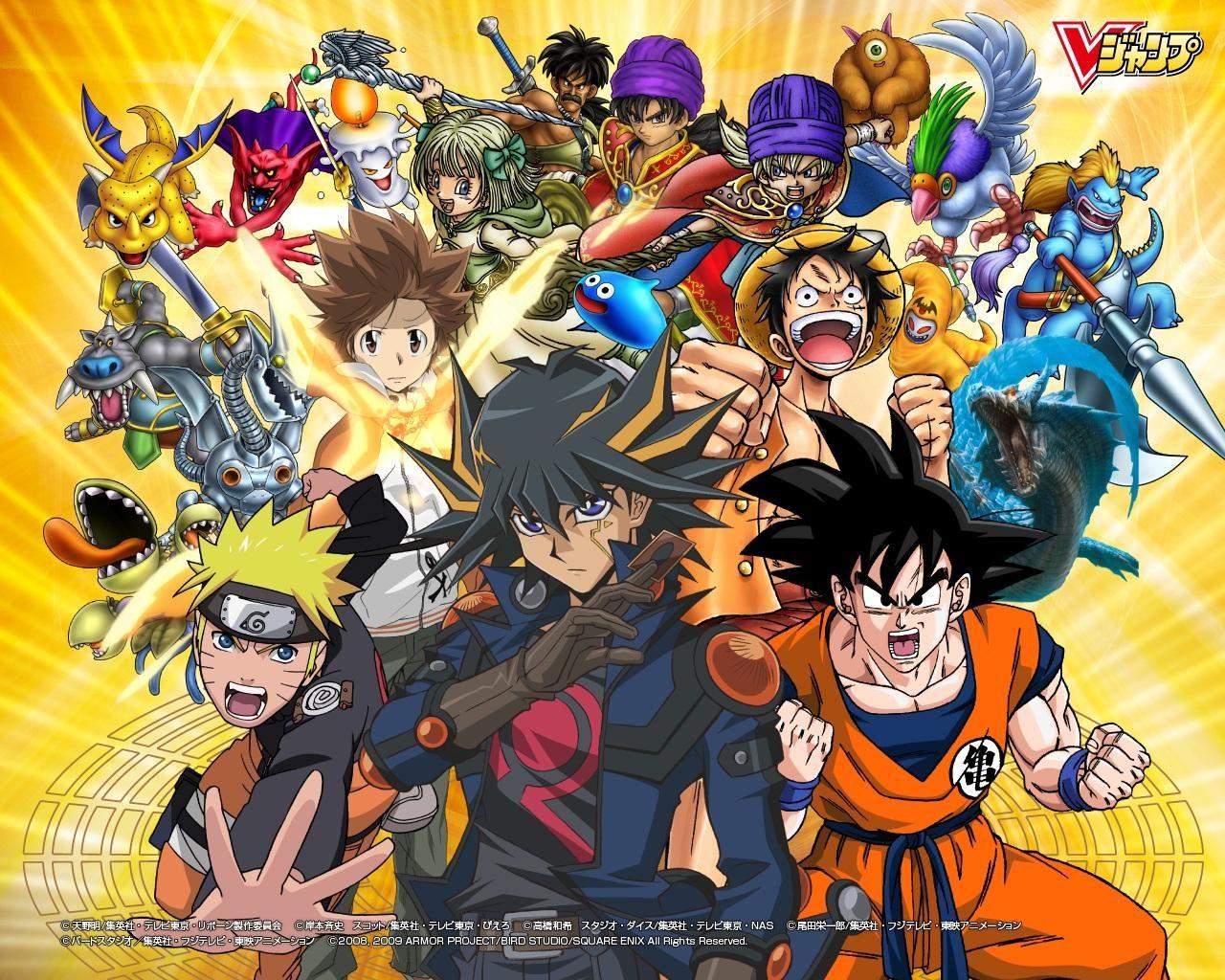 Goku Luffy Naruto Anime, Desenhos