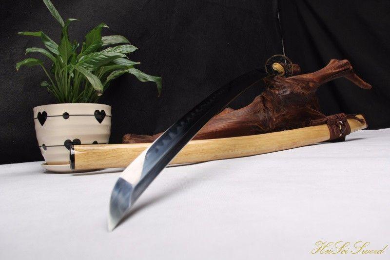 Buy Handmade Katana 1095Carbon Steel Clay Tempered Wooden