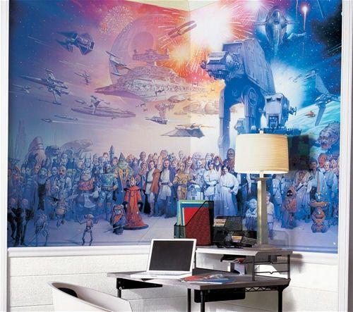 Roommates star wars saga prepasted chair rail wall mural visit the image link more details