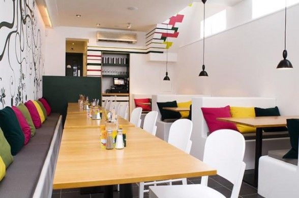 Colourful Cafe Interior By Simple Simon Design Canteen Design