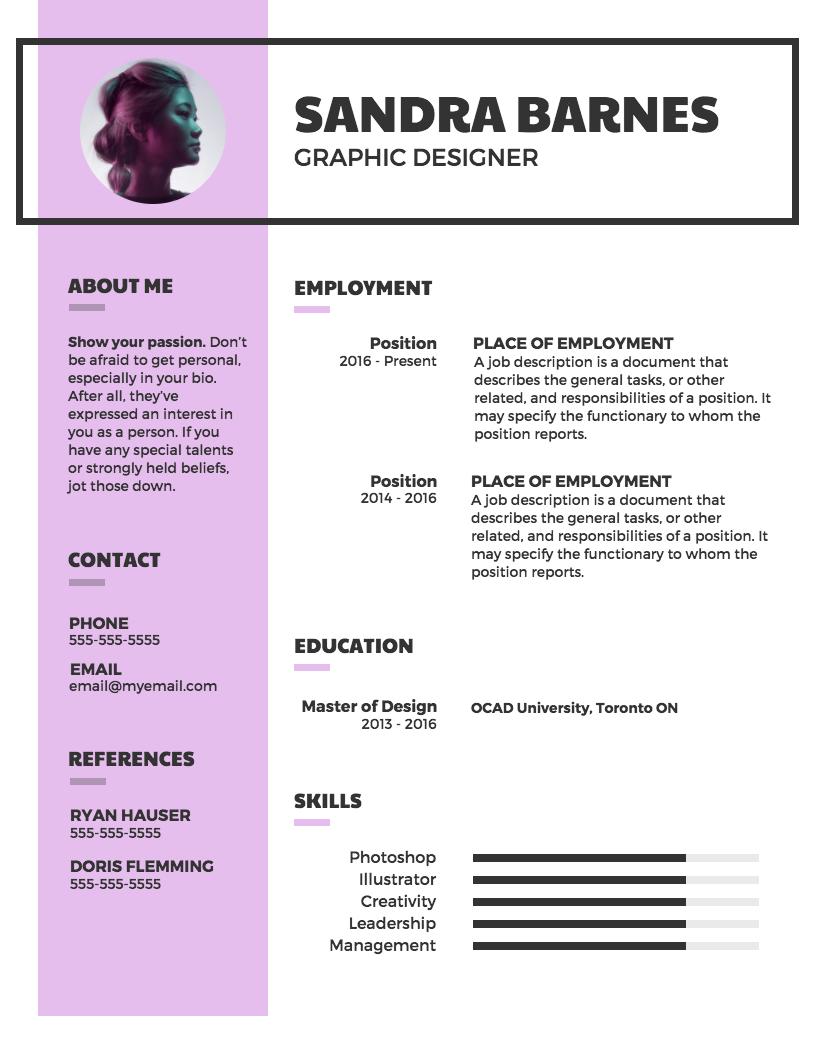Modern Professional Resume Resume template professional