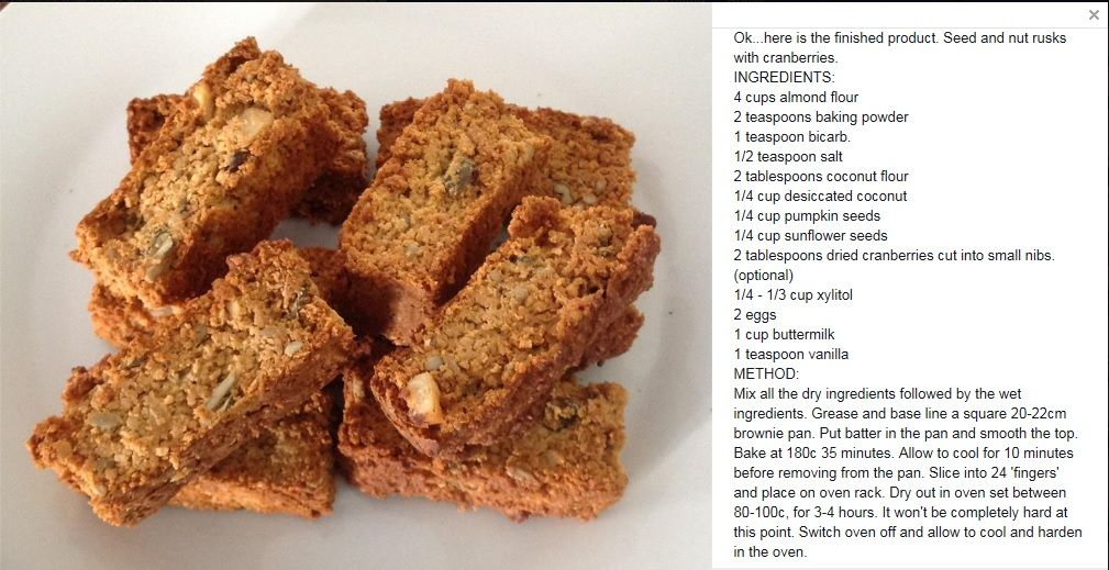 Cranberry Buttermilk Banting Rusks Banting Recipes Rusk Recipe Recipes
