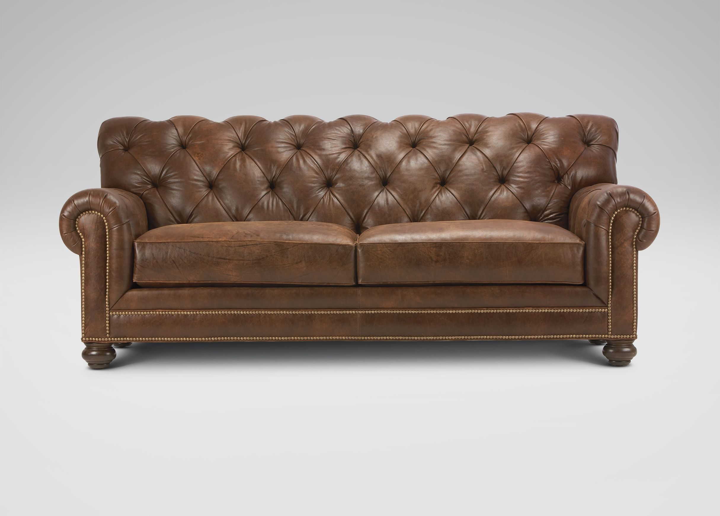 Chadwick Leather Sofa Ethan Allen Tufted Leather Sofa Ethan