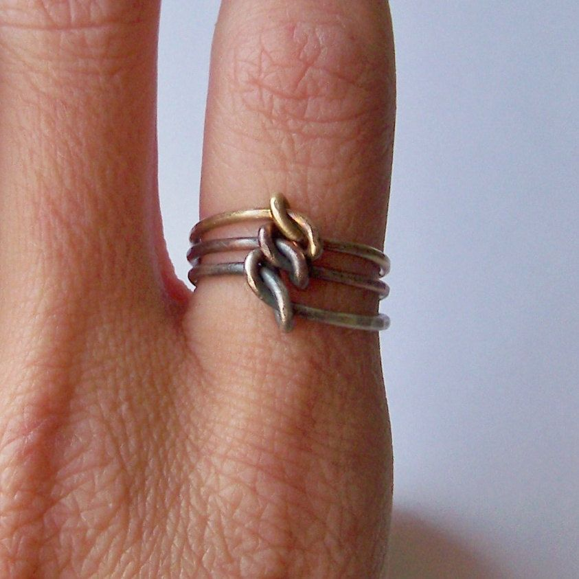 Stacking Rings - German Silver - Copper - Brass - 3 Mixed Metal ...
