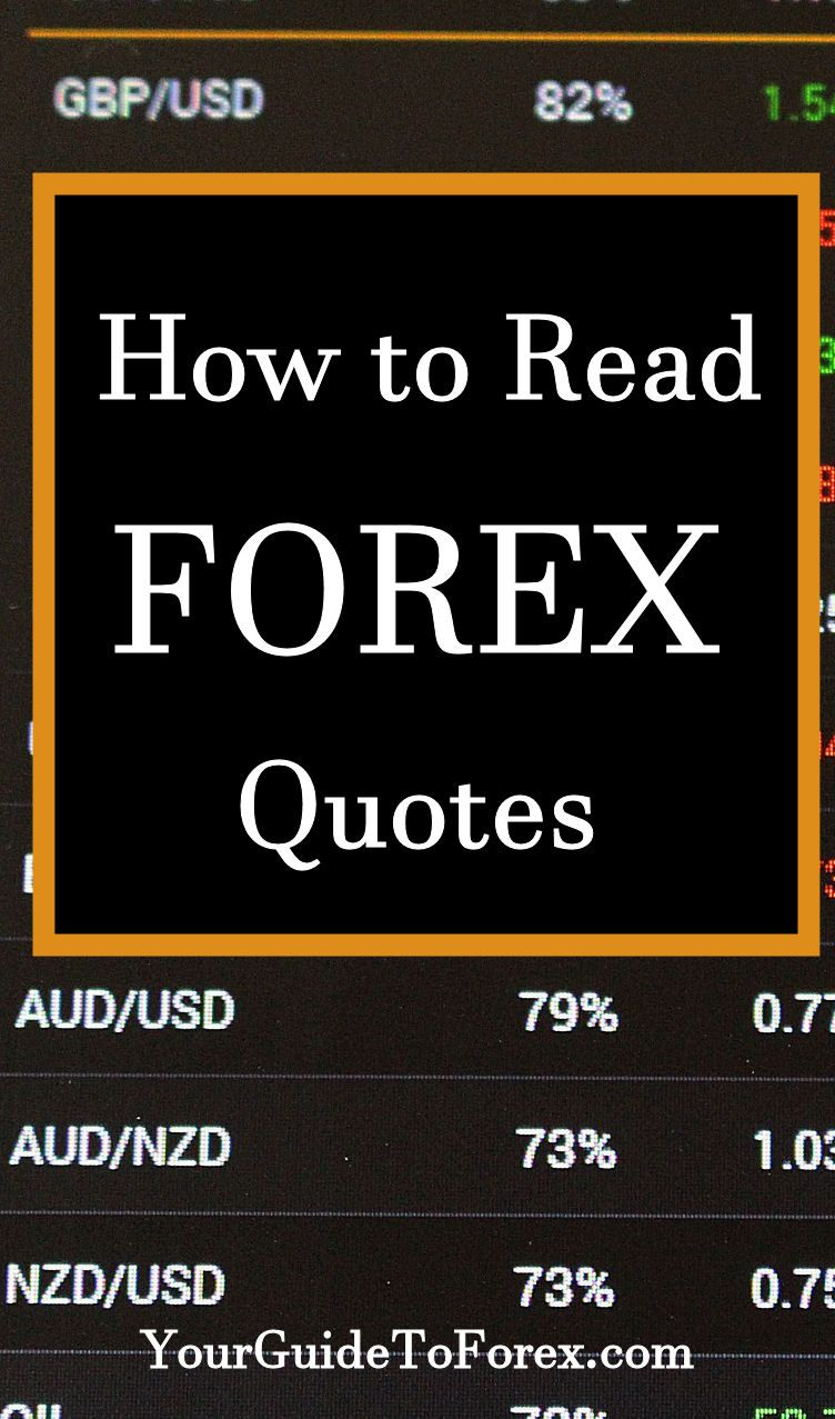Forex Quotes How To Read A Forex Quote  Trading Strategies