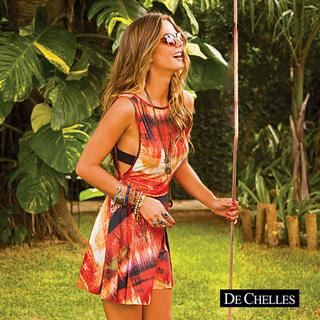 a872b5bd8 Vestido Decote Quadrado De Chelles Acqua - comprar online