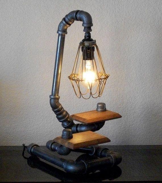 20 Interesting Industrial Pipe Lamp Design Ideas | Diy pipe ...