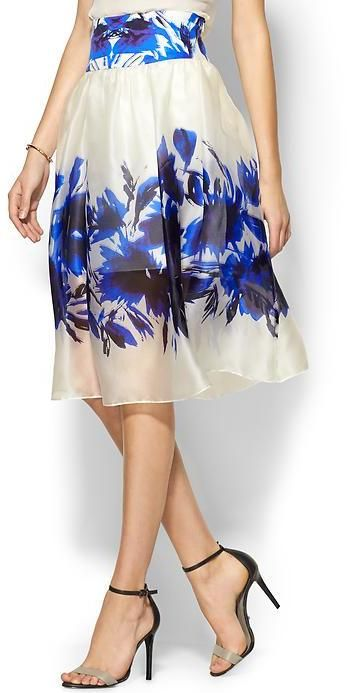 Milly Floral Mirage Skirt