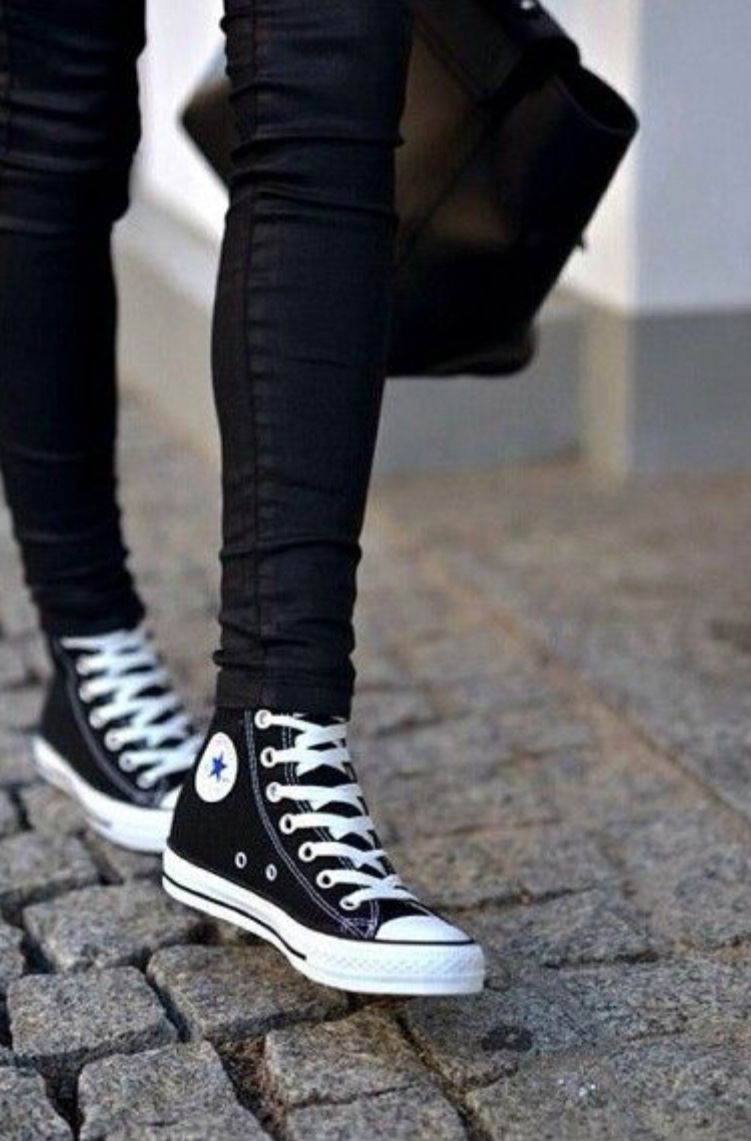 Converse | Black converse, Fashion shoes, Shoes