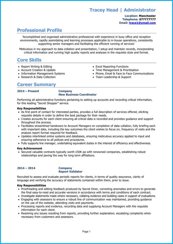 Cv Template Pdf Cv Writing Guide Example Cv Write A Winning Cv Resume Examples Cv Template Professional Resume Examples