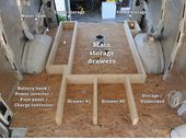 Photo of To add additional storage options, I'm building a raised floor in the rear hal…