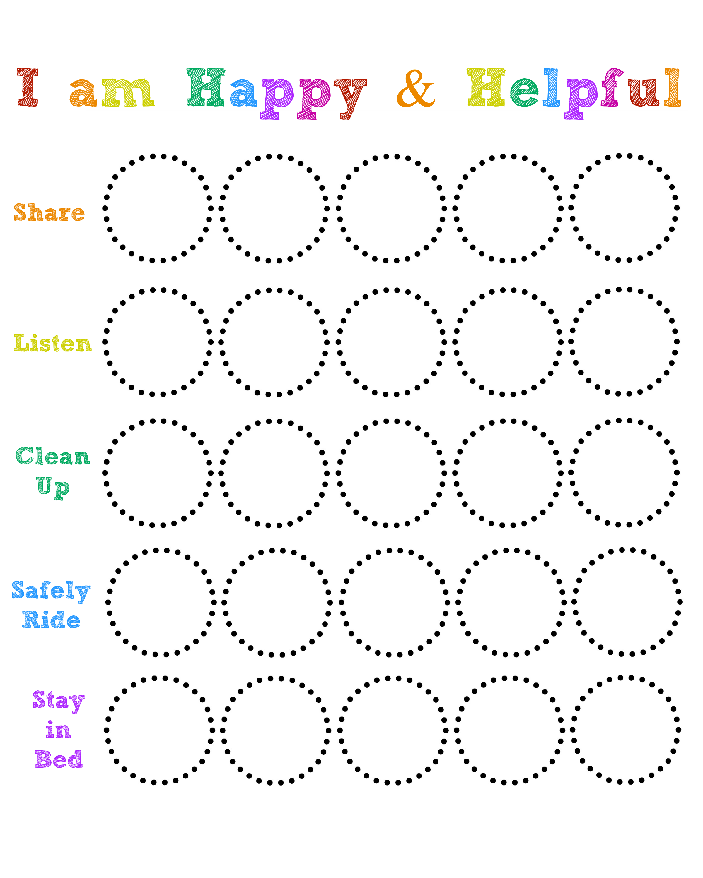 photograph about Sticker Chart Printable referred to as Delighted and Efficient Chart (Residing upon Get pleasure from) youngsters habits