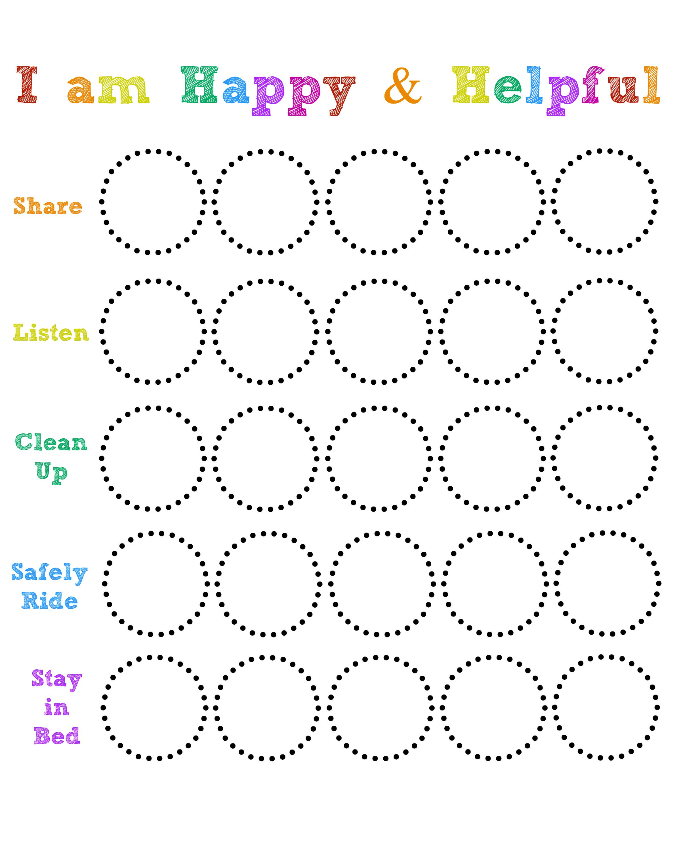toddler sticker chart
