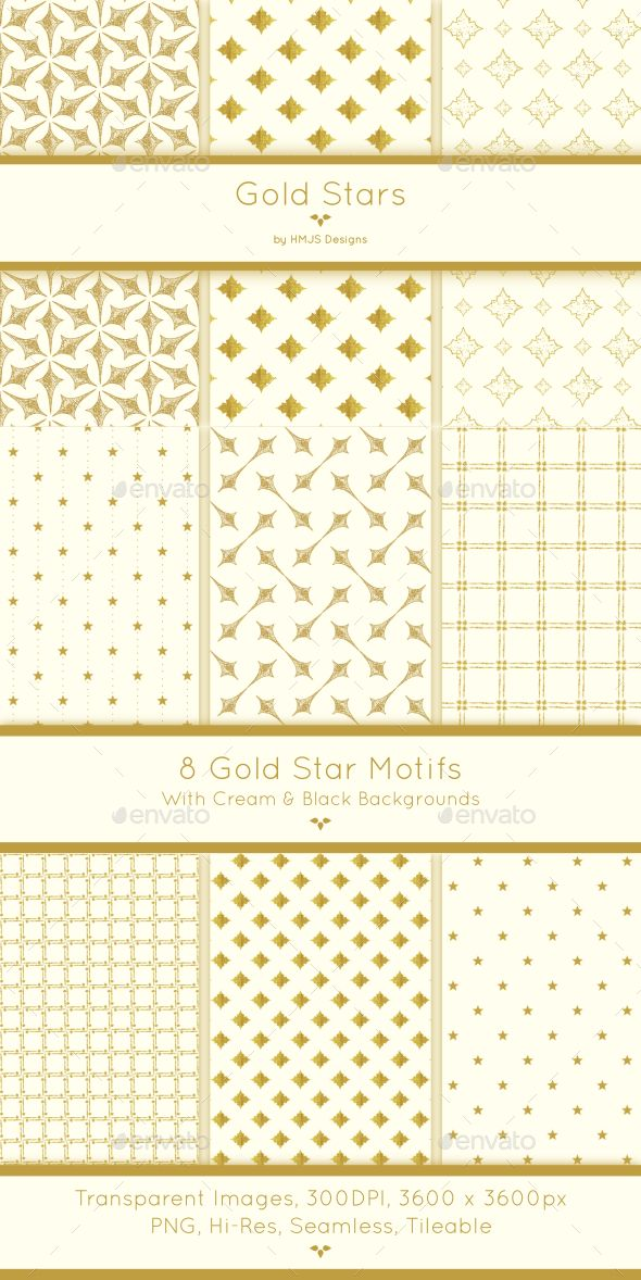 Gold Star Patterns — Transparent PNG #gold stars #Gold star patterns • Available here → https://graphicriver.net/item/gold-star-patterns/17480656?ref=pxcr